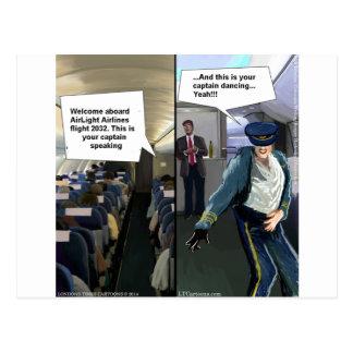 Hipster Pilot Funny Postcard