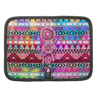 Hipster Pink Dreamcatcher Neon Andes Aztec Pattern Organizers