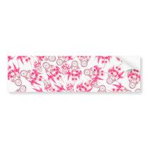 Hipster pink vintage dreamcatcher pattern bumper sticker