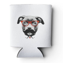 Hipster Pit Bull Terrier Can Cooler