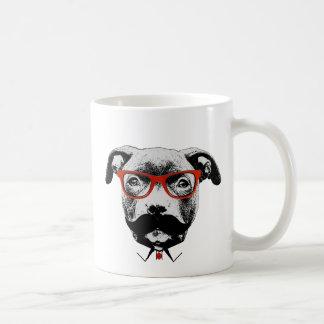Hipster Pit Bull Terrier Coffee Mug