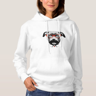 Hipster Pit Bull Terrier Hoodie