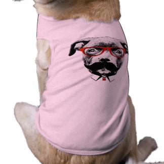 Hipster Pit Bull Terrier Shirt
