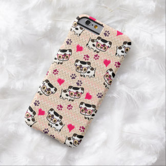 Hipster Puppy Love Chevron Pattern iPhone 6 Case