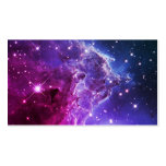 Hipster Purple Ombre Monkey Head Nebula Business Card Template