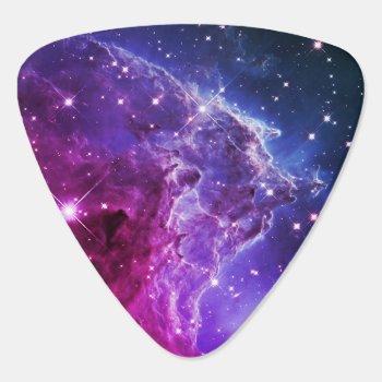 Hipster Purple Ombre Monkey Head Nebula Guitar Pick by annaleeblysse at Zazzle