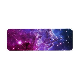 Hipster Purple Ombre Monkey Head Nebula Label