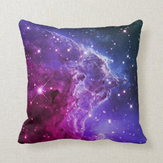 Hipster Purple Ombre Monkey Head Nebula Pillow