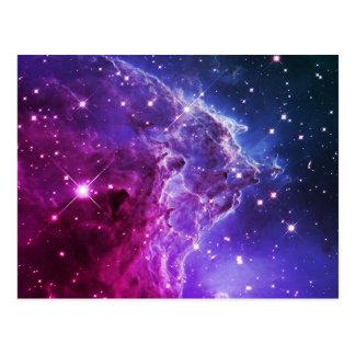 Hipster Purple Ombre Monkey Head Nebula Postcard