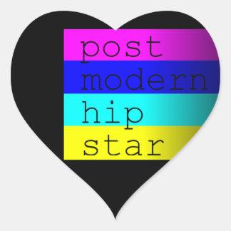 Hipster rainbow stripes heart sticker