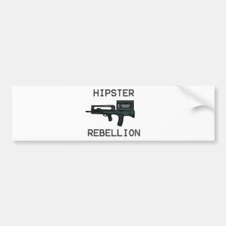 Hipster Rebellion Car Bumper Sticker