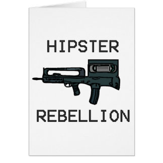 Hipster Rebellion Greeting Card