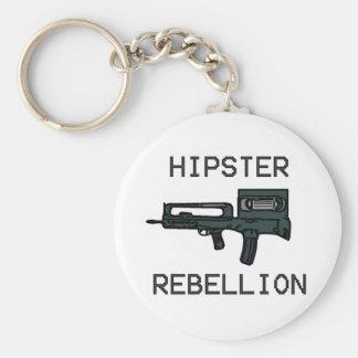 Hipster Rebellion Basic Round Button Keychain