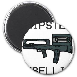 Hipster Rebellion 2 Inch Round Magnet