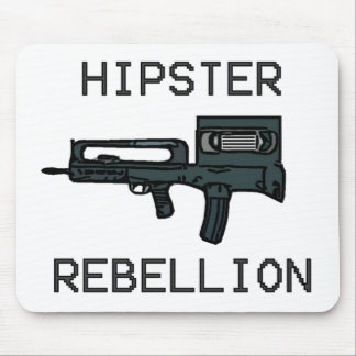 Hipster Rebellion Mouse Pad