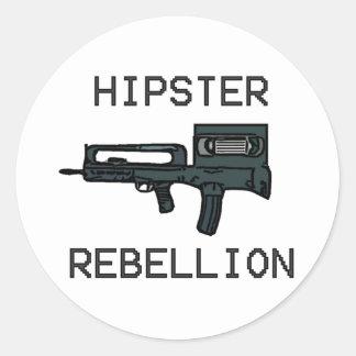 Hipster Rebellion Classic Round Sticker