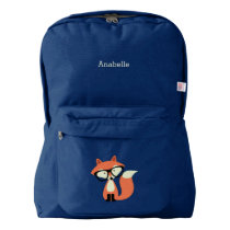 Hipster Red Fox American Apparel™ Backpack