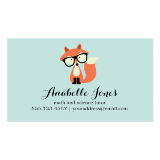 Hipster Red Fox Double-Sided Standard Business Cards (Pack Of 100)