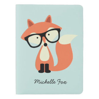 Hipster Red Fox Extra Large Moleskine Notebook