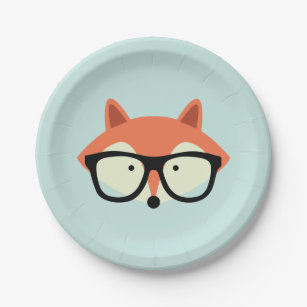 Hipster Red Fox Paper Plate  sc 1 st  Zazzle & Hipster Fox Plates | Zazzle