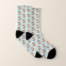 Hipster Red Fox Socks