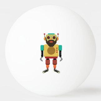 Hipster Retro Robot Ping-Pong Ball