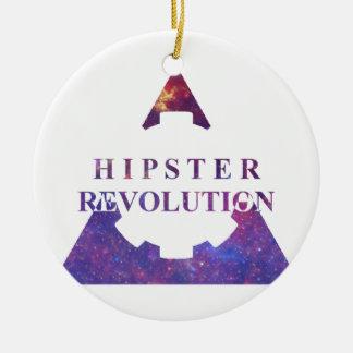 Hipster Revolution GEAR Ceramic Ornament