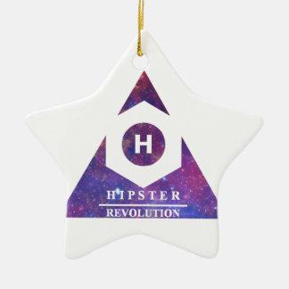 Hipster Revolution H Ceramic Ornament