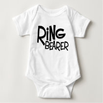 Hipster Ring Bearer Baby Bodysuit