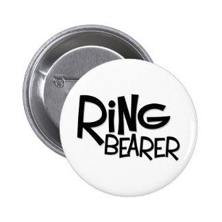 Hipster Ring Bearer Button