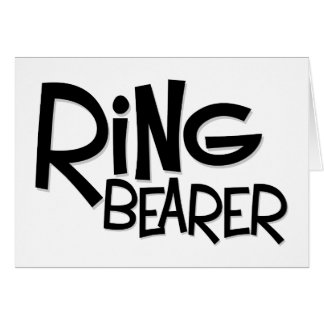 Hipster Ring Bearer Greeting Card