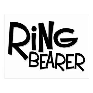 Hipster Ring Bearer Postcard