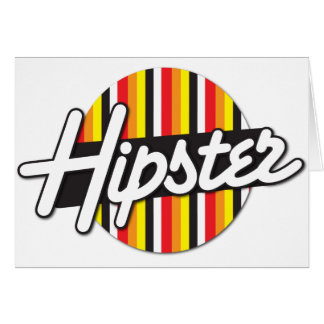 Hipster Rockabilly design Card