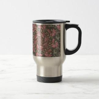 Hipster roses travel mug