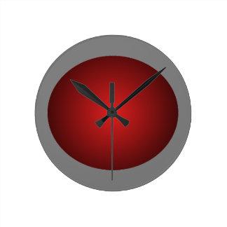 Hipster Rust Orangish 3D Design Grey Ball Clock