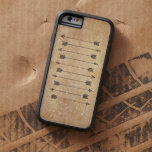 Hipster rustic linen arrows iPhone 6 case