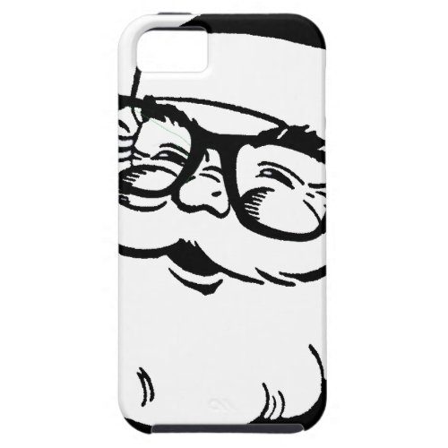 hipster santa iPhone SE55s case