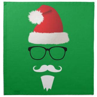 Hipster Santa Claus Cloth Napkin