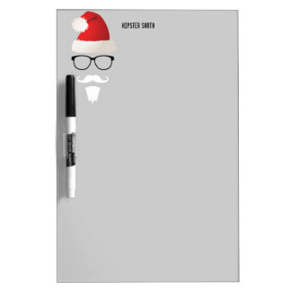 Hipster Santa Claus Dry-Erase Board