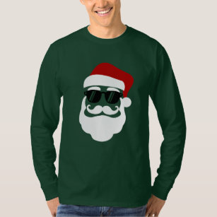 9fd44a68d8a Hipster Santa Claus With Sunglasses Funny Gift T-Shirt