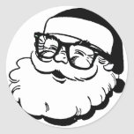 hipster santa stickers
