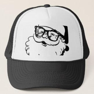 hipster santa trucker hat