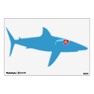 Hipster Shark in Sunglasses Wall Decal