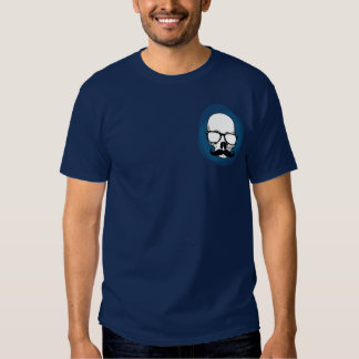 Hipster skull with moustache t-shirt