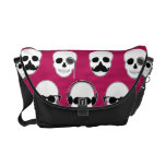 Hipster Skulls Pattern Pink Courier Bags