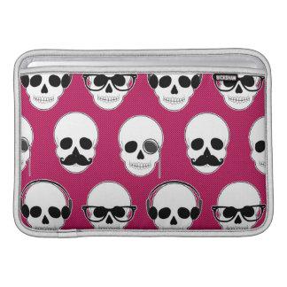Hipster Skulls Pattern Pink MacBook Sleeve