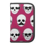 Hipster Skulls Pattern Pink Organizers