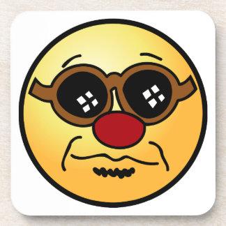 Hipster Smiley Face Grumpey Coaster