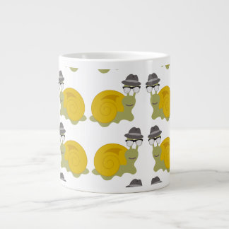 Hipster Snail Pattern Large Coffee Mug