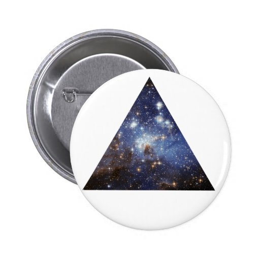 hipster space triangle button